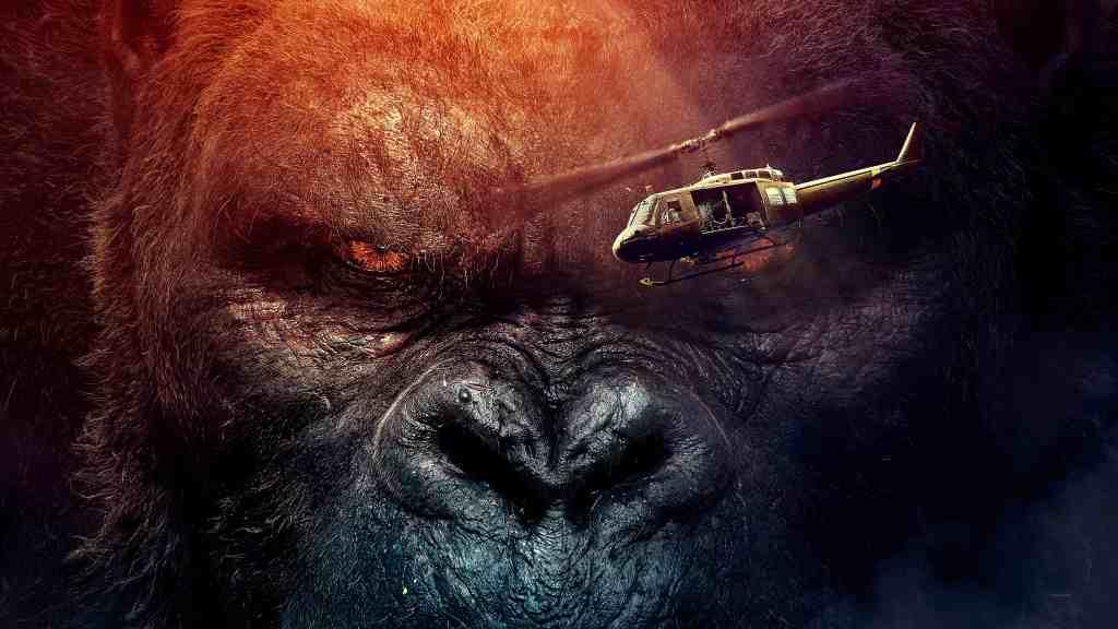 "portada de la pelicula en solitario de kong. ""Kong: Skull Island"
